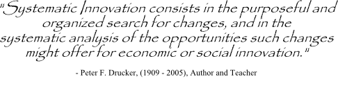 Peter Drucker on systematic innovation