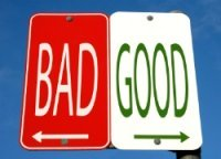 Image of choosing good or bad