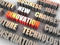 Image of words related to Innovation.