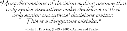 Peter Drucker quote on decision making