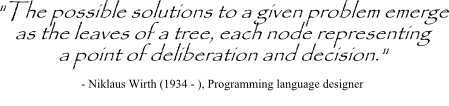 Niklaus Wirth quotes on decision making trees