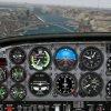 Image of a flight simulator screen