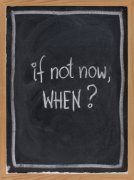 Sign saying If Not Now, When image