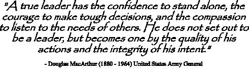 General Douglas MacArthur Leadership Quote
