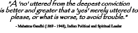 Mahatma Gandi quote on resisting groupthink