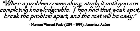 Norman Vincent Peale quote on problem solving