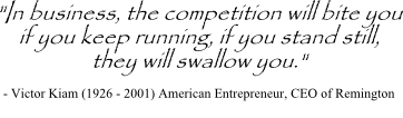Victor Kiam quote on business competitors