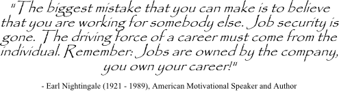Nightingale quote on career change