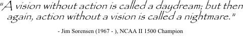 Jim Sorensen quote on vision and action
