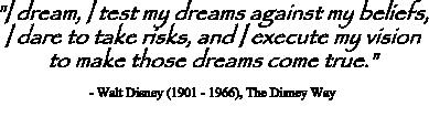 Walt Disney quote on vision