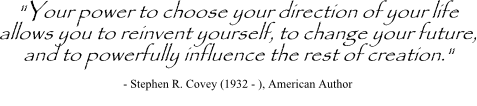 Career decision quote by Stephen Covey