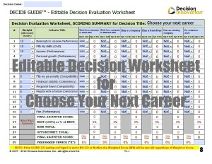 Image of career decision making tool