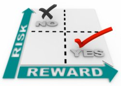 Image of risk versus reward