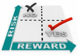 Image of risk versus reward