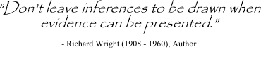 Richard Wright quote on evidence based decision making