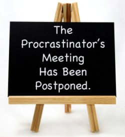 Image of procrastinators meeting board