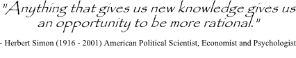 Herbert Simon quote on rational decision making