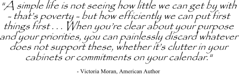 Victoria Moran quote on priorities
