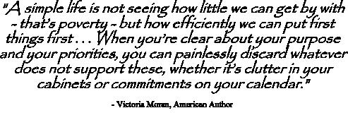 Victoria Moran quote on priorities