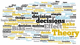 Image of word cloud of many decision making theories