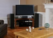 Home entertainment system with HD flat screen TV