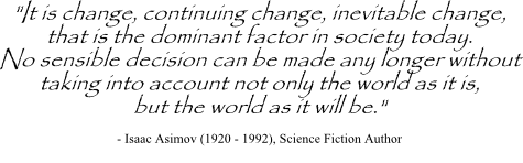 Isaac Asimov quote on continuing change
