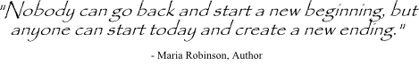 Maria Robinson quote