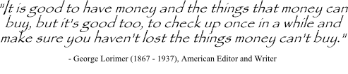George Lorimer quote related to consumer decision making