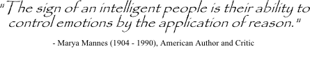 Marya Mannes quote on applying reason