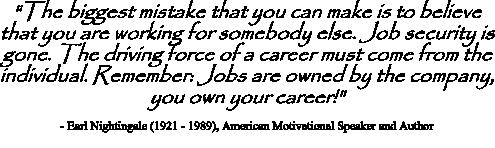 Nightingale quote on career change