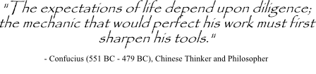 Decision analysis tools quote by Confucius