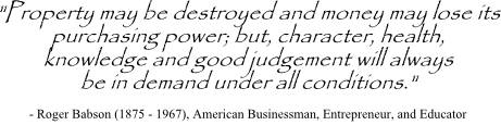 Roger Babson quote on judgment