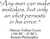 Marcus Cicero quote on learning from mistakes